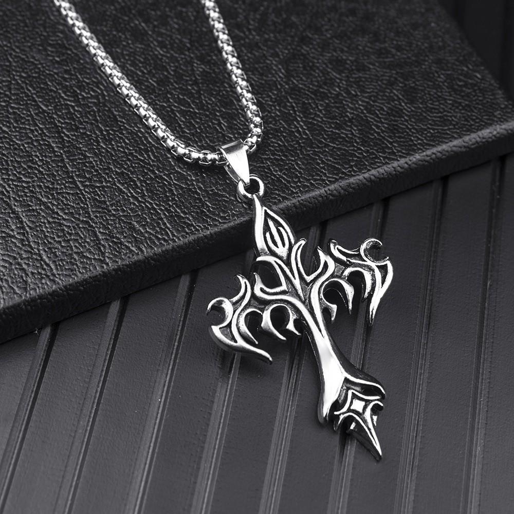 Egirl Eboy Punk Chain Necklace with Cross Pendant 42