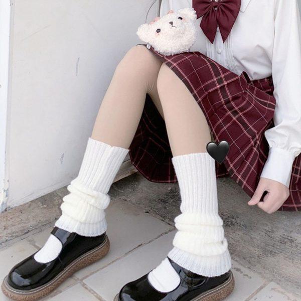 Knit Loose Leg Warmers 4