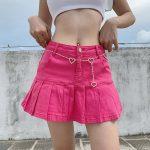 Y2K Denim Mini Pleated Skirt  4
