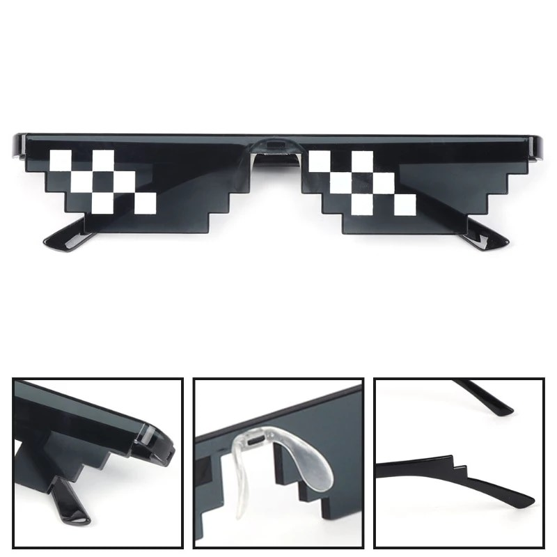 Egirl Eboy Harajuku Pixelated Sunglasses Thug Life 43