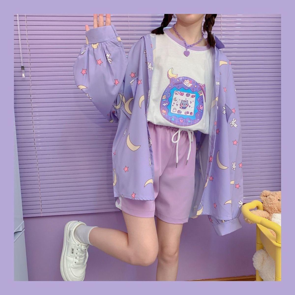 Harajuku Soft Girl Oversized T-shirt 48