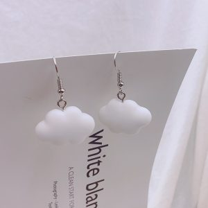 Soft girl Egirl Harajuku Cute Cloud Earrings 1
