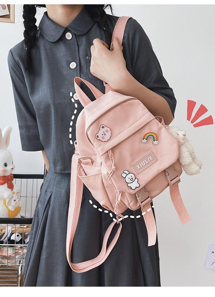 Soft girl small cute Backpack 41