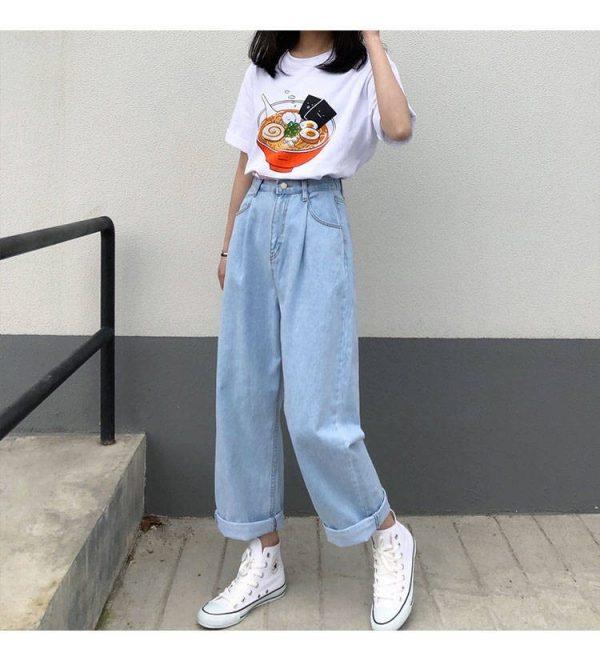 Egirl Y2K High Waist Wide Leg Jeans 13