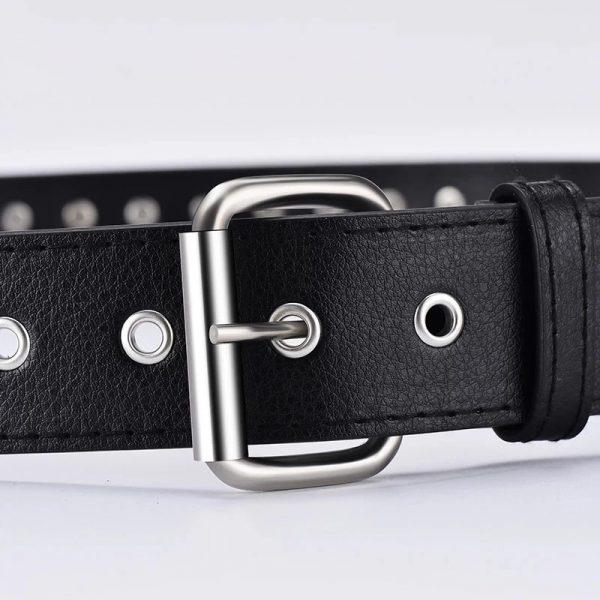 Egirl Eboy Punk leather belt with Bullet decor 4