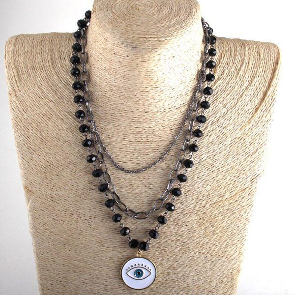 Egirl Eboy Gothic Necklaces Multiple Rosary & Chain Cross Pendant 4