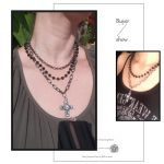 Egirl Eboy Gothic Necklaces Multiple Rosary & Chain Cross Pendant 6
