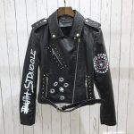 Punk Gothic Egirl Faux Soft Leather Jacket 4