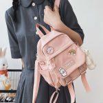 Soft girl small cute Backpack 1