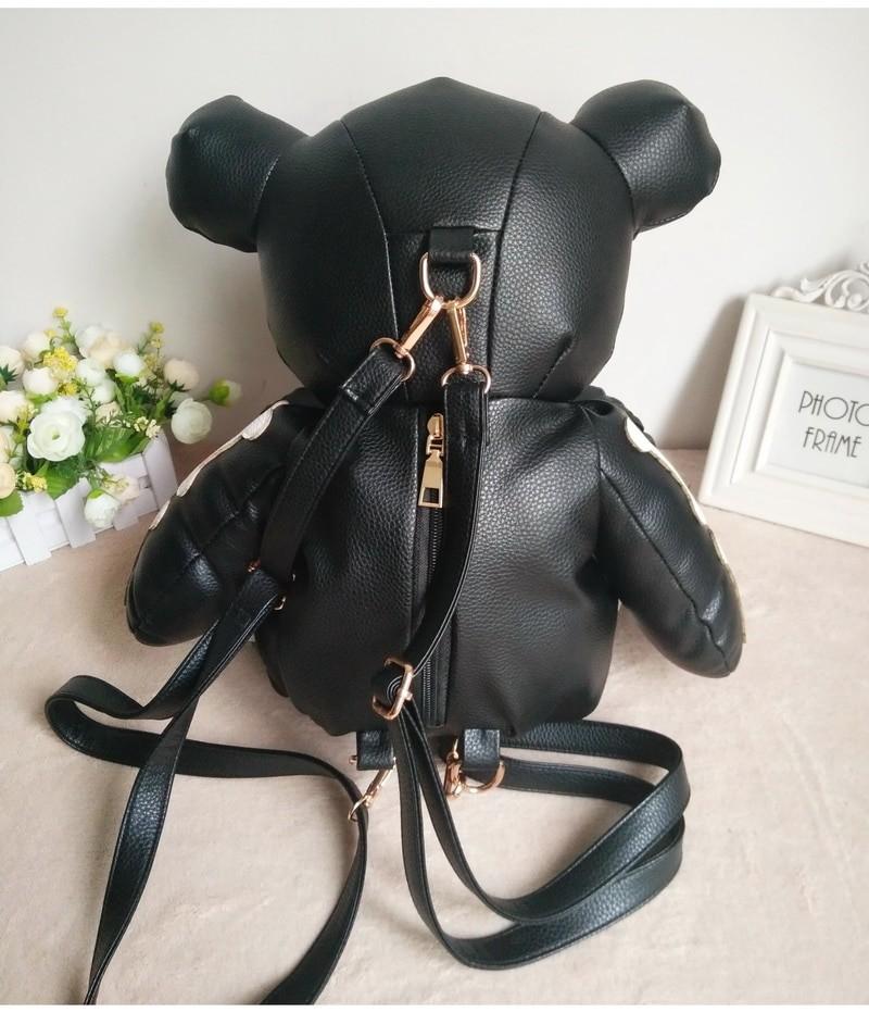 Egirl Eboy Gothic Skeleton Bear Backpack 51
