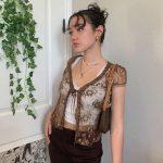 Soft girl Y2K Lace Crop Top 24