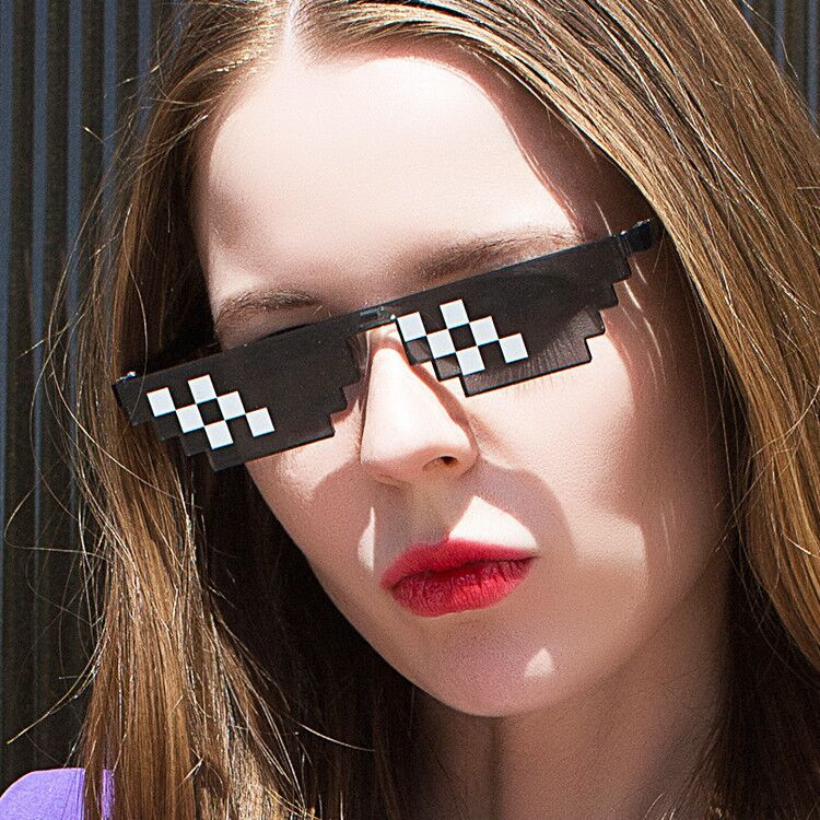 Egirl Eboy Harajuku Pixelated Sunglasses Thug Life 50