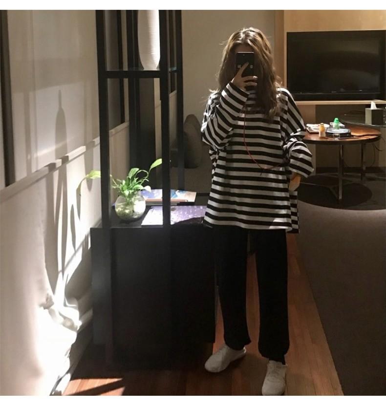 Egirl Harajuku Oversized Striped T-shirt 44