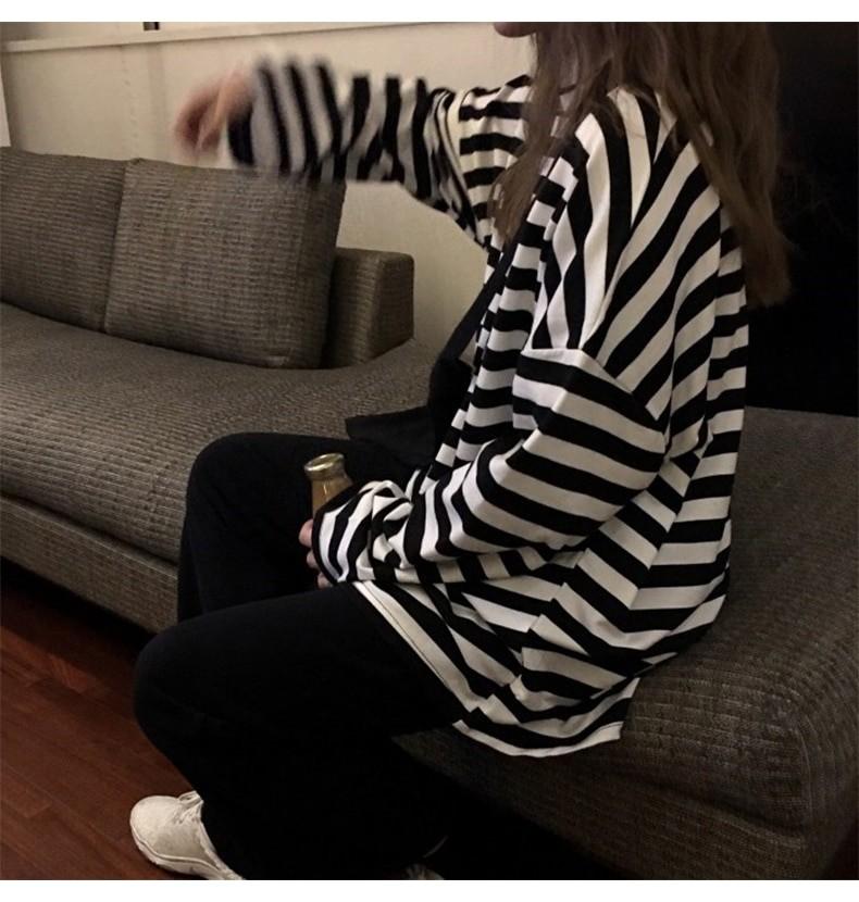Egirl Harajuku Oversized Striped T-shirt 46