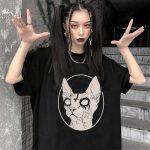 Gothic Sphynx Cat T-Shirt 5