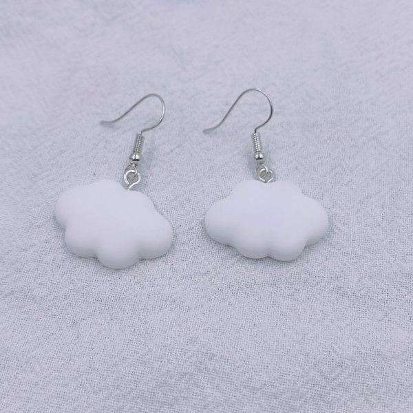 Soft girl Egirl Harajuku Cute Cloud Earrings 3