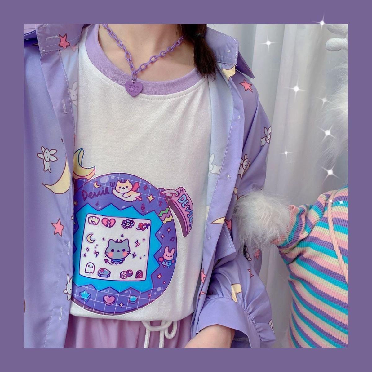 Harajuku Soft Girl Oversized T-shirt 49