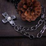 Egirl Eboy Gothic Necklaces Multiple Rosary & Chain Cross Pendant 5