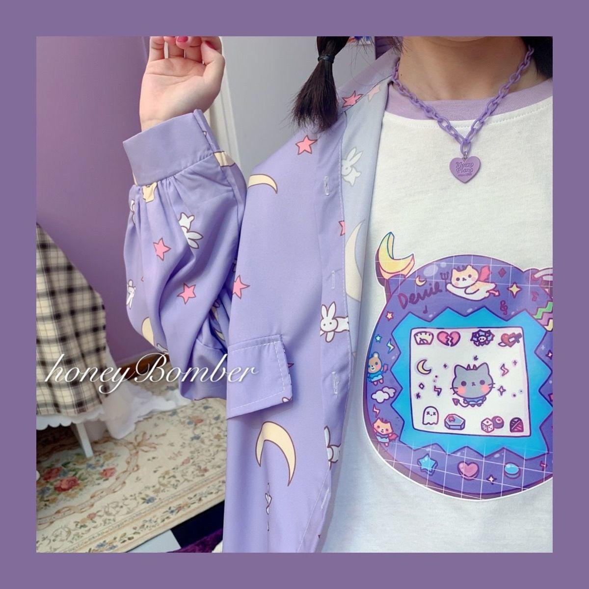 Harajuku Soft Girl Oversized T-shirt 45