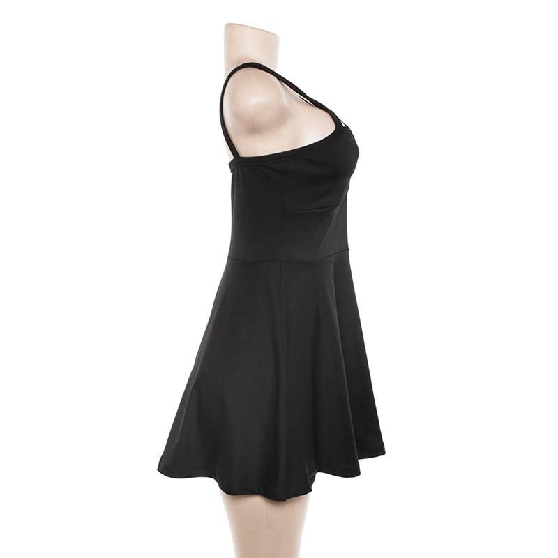 Egirl Gothic Pentagram Strap Dress 42