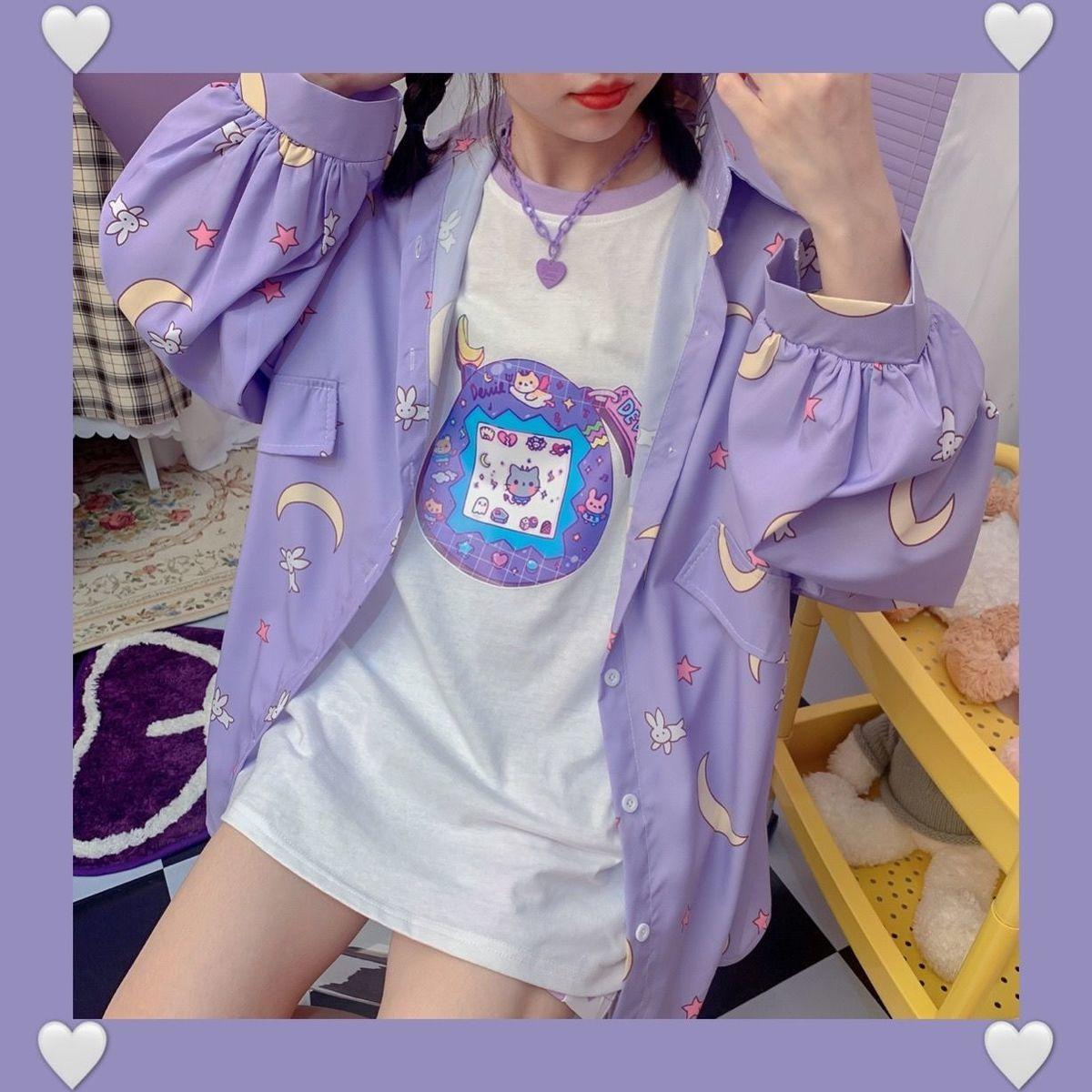 Harajuku Soft Girl Oversized T-shirt 42