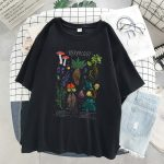 Gothic Harajuku T-shirt with vintage herbology print 2