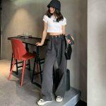 Egirl High Waist Oversized Jeans with Wide Legs 5