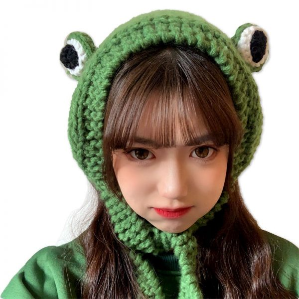 Fashion Knitted Frog Hat 6