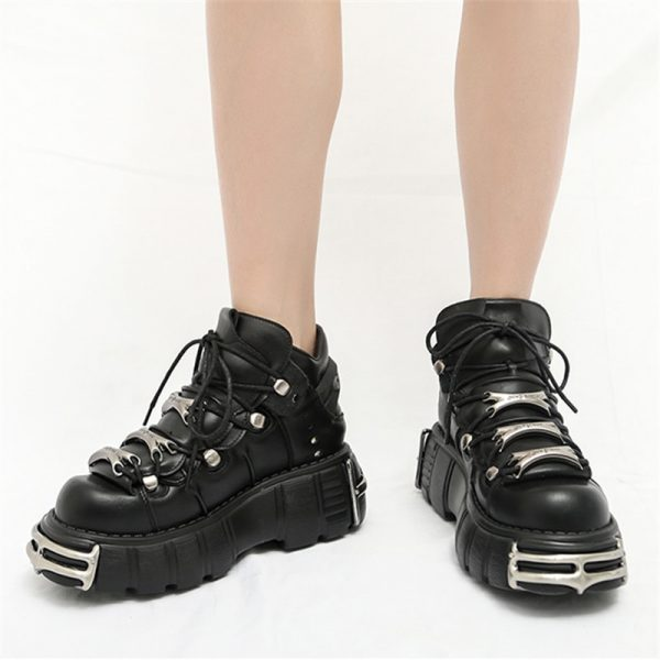 Punk Style Women Sneakers with Metal Decor 2