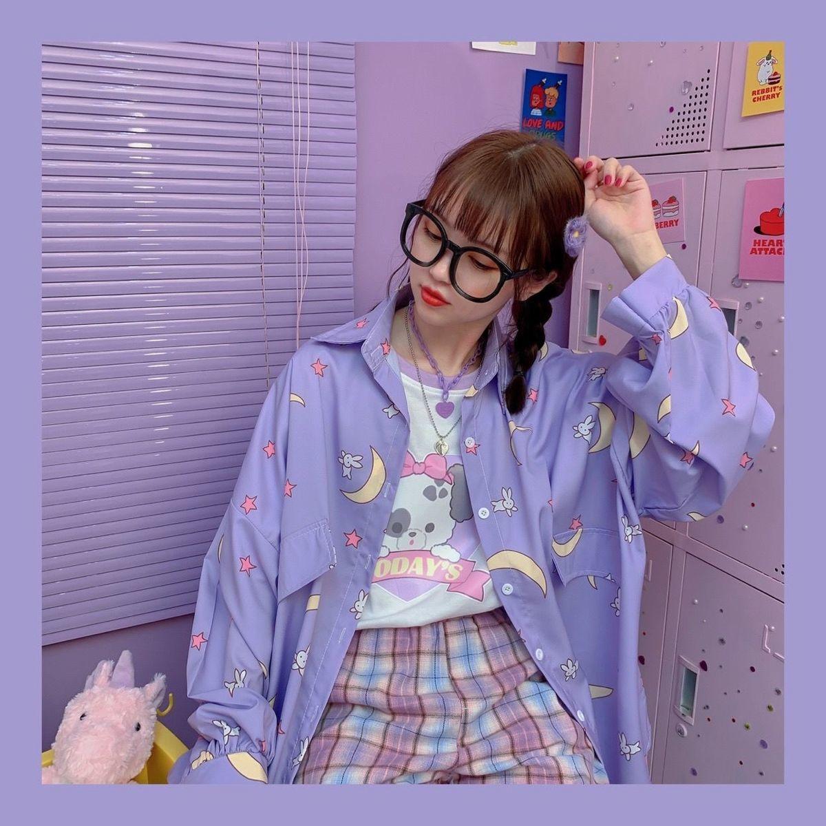 Harajuku Soft Girl Oversized T-shirt 50