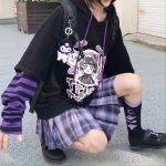 Harajuku kawaii anime print hoodie 2