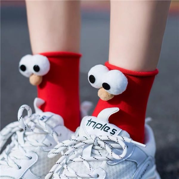 3D eyes Funny Socks Harajuku kawaii style 1
