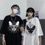 Gothic Sphynx Cat T-Shirt 6
