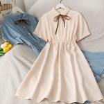 Harajuku Soft girl Chiffon  Dress with Bow 1