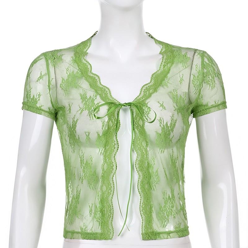 Soft girl Y2K Lace Crop Top 41