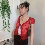Soft girl Y2K Lace Crop Top 28