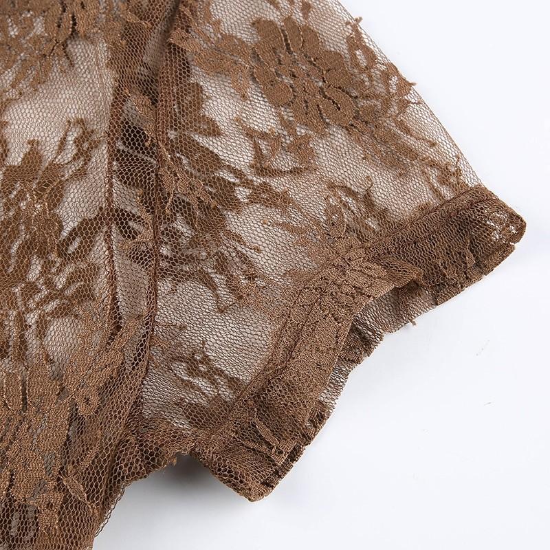Soft girl Y2K Lace Crop Top 47