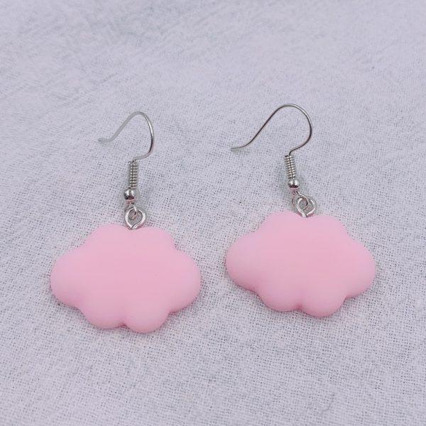 Soft girl Egirl Harajuku Cute Cloud Earrings 2