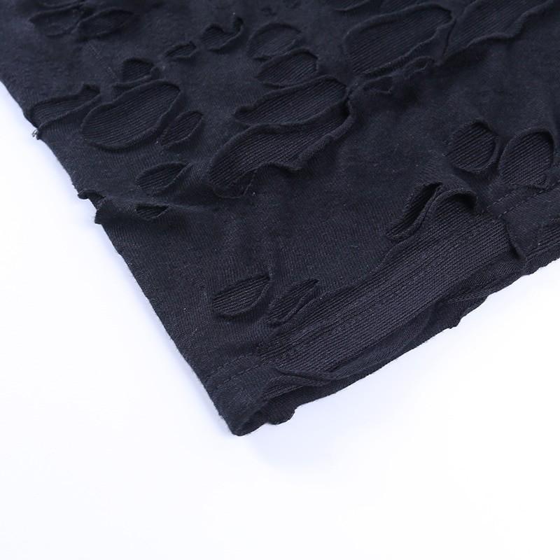 Egirl Gothiс Punk Mini Dress with holes 49