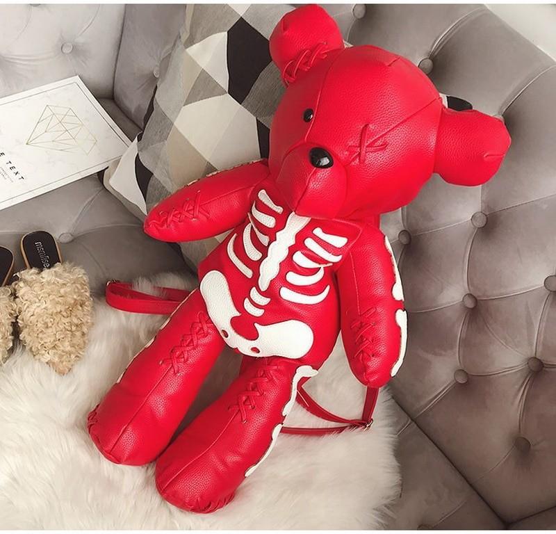 Egirl Eboy Gothic Skeleton Bear Backpack 46