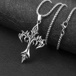 Egirl Eboy Punk Chain Necklace with Cross Pendant 6