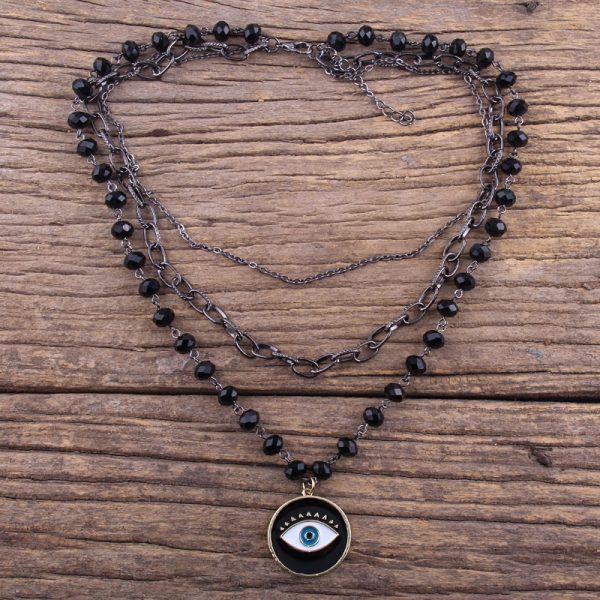 Egirl Eboy Gothic Necklaces Multiple Rosary & Chain Cross Pendant 3