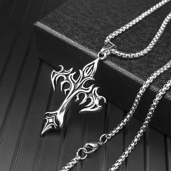 Egirl Eboy Punk Chain Necklace with Cross Pendant 5