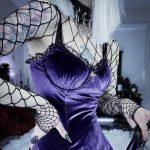 Gothic Vintage Velvet Dress with Cross 2