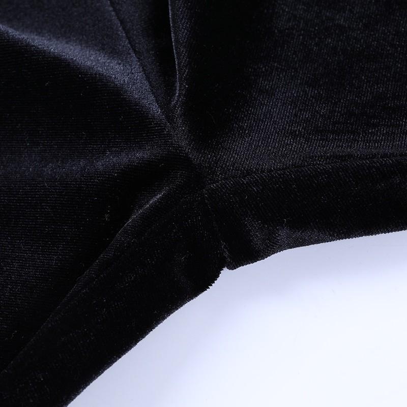 Egirl Gothic Aesthetic Flared Velvet Pants with Lace 53