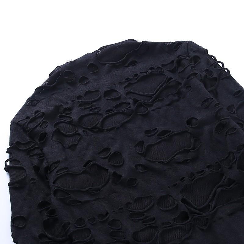Egirl Gothiс Punk Mini Dress with holes 47
