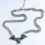 Gothic Egirl Eboy Bat Chain Necklace 6