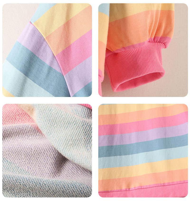 Soft Girl Harajuku Rainbow Striped T-shirt 41