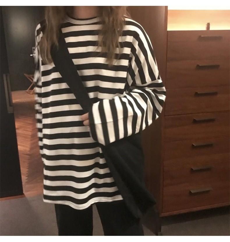 Egirl Harajuku Oversized Striped T-shirt 45