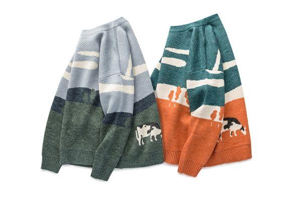 Eboy Egirl Y2K Vintage Cows print Sweaters 6